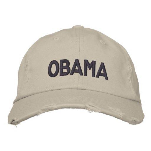 OBAMA EMBROIDERED BASEBALL CAP