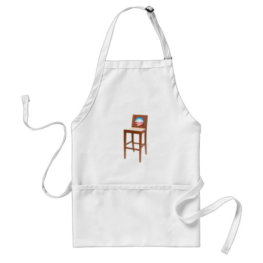 Obama Empty Chair Adult Apron