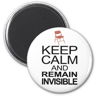 Obama Empty Chair - Remain Invisible 2 Inch Round Magnet