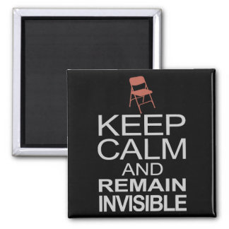 Obama Empty Chair - Remain Invisible 2 Inch Square Magnet