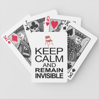 Obama Empty Chair - Remain Invisible Bicycle Playing Cards