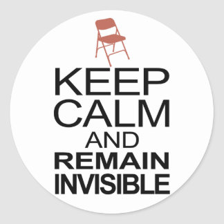 Obama Empty Chair - Remain Invisible Classic Round Sticker