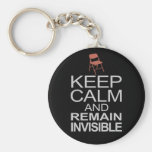 Obama Empty Chair - Remain Invisible Keychain