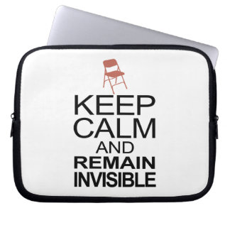 Obama Empty Chair - Remain Invisible Computer Sleeve