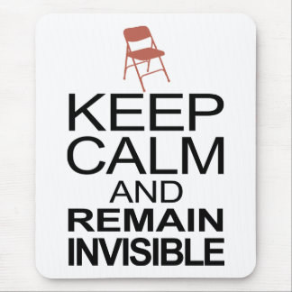 Obama Empty Chair - Remain Invisible Mouse Pad