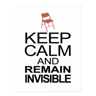 Obama Empty Chair - Remain Invisible Postcard