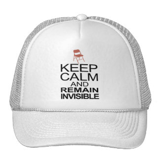 Obama Empty Chair - Remain Invisible Trucker Hat