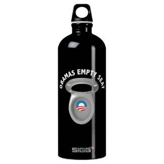 Obama Empty Chair - Toilet Seat Aluminum Water Bottle