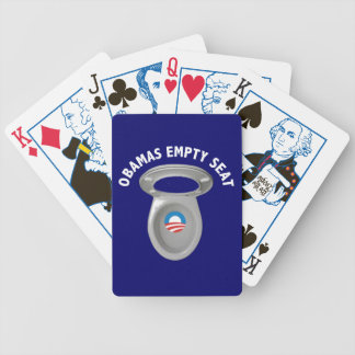 Obama Empty Chair - Toilet Seat Bicycle Playing Cards