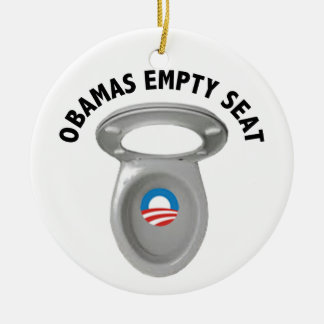 Obama Empty Chair - Toilet Seat Ceramic Ornament