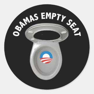 Obama Empty Chair - Toilet Seat Classic Round Sticker