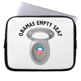 Obama Empty Chair - Toilet Seat Computer Sleeves