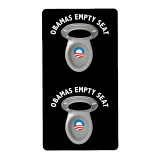 Obama Empty Chair - Toilet Seat Label