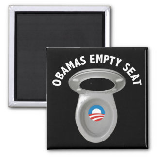 Obama Empty Chair - Toilet Seat Fridge Magnets