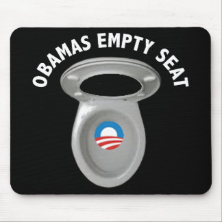 Obama Empty Chair - Toilet Seat Mouse Pad