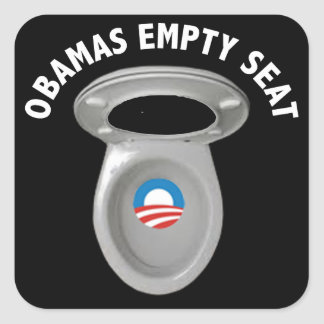 Obama Empty Chair - Toilet Seat Square Sticker