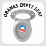 Obama Empty Chair - Toilet Seat Square Sticker