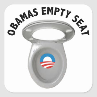 Obama Empty Chair - Toilet Seat Square Stickers