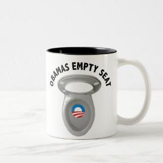 Obama Empty Chair - Toilet Seat Two-Tone Coffee Mug