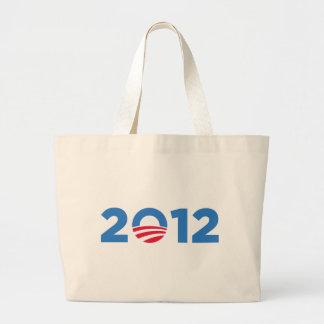 Obama en 2012 bolsa tela grande