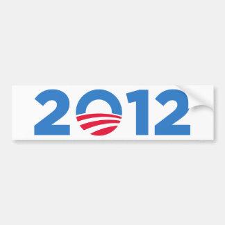 Obama en 2012 pegatina de parachoque