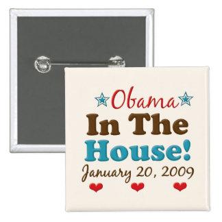 Obama en el botón del cuadrado de la casa