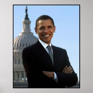 Obama en el edificio del capitolio póster