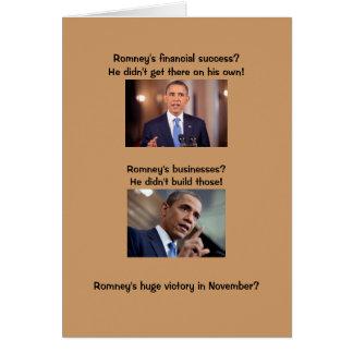 Obama en éxito tarjeta de felicitación