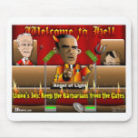 Obama en infierno alfombrilla de ratones
