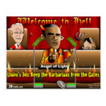 Obama en infierno tarjeta postal