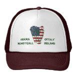 Obama en la bandera de Offaly los E.E.U.U. en el Gorros