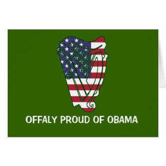 Obama en la bandera de Offaly los E.E.U.U. en Felicitacion