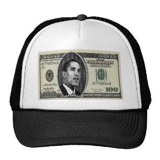 Obama en la cuenta $100 gorro de camionero