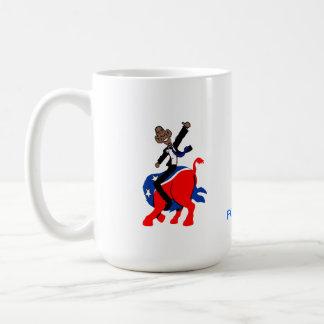 Obama en un burro taza