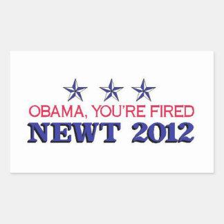 Obama encendió el Newt 2012 Pegatinas