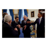 Obama encuentra Netanyahu y a Mubarak en Casa Blan Poster