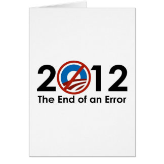 Obama End of an ERROR Cards