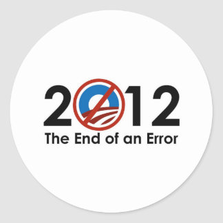 Obama End of an ERROR Classic Round Sticker