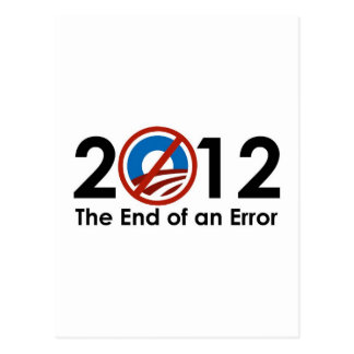 Obama End of an ERROR Post Cards
