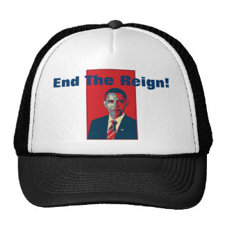 Obama - End The Reign Pop Art Product Mesh Hat
