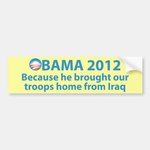 Obama Ended the War in Iraq Bumper Sticker