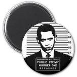Obama - enemigo público número uno iman para frigorífico