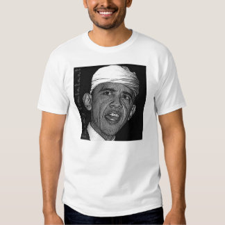 Obama Enemy Combatant White T Tee Shirt