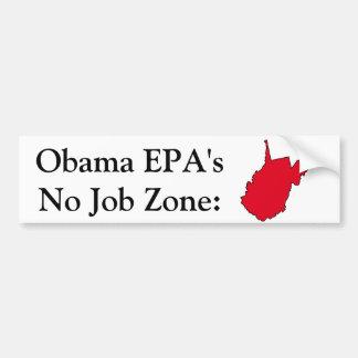 Obama EPA No Job Zone Bumper Sticker