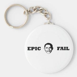 Obama- Epic Fail Basic Round Button Keychain