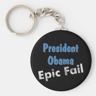 Obama epic fail basic round button keychain