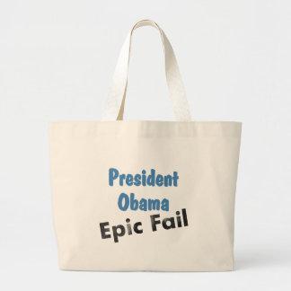 Obama epic fail large tote bag