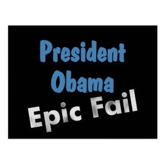 Obama epic fail postcard