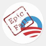 Obama Epic Fail Stickers
