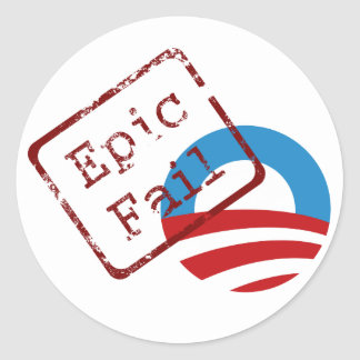Obama Epic Fail Stickers